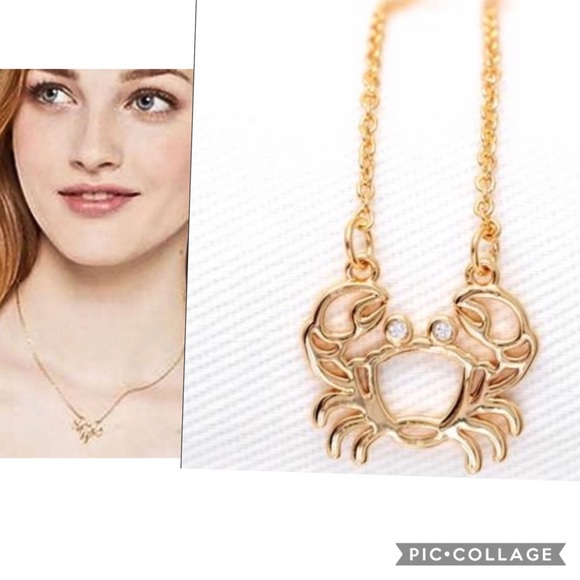 $58 New Kate spade shiny crab gold necklace